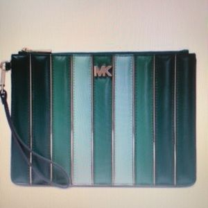 Michael Kors Quilted Leather Tricolor Zip Pouch